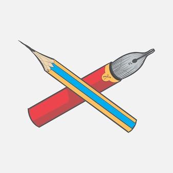 ヒップスタースタイルのコンセプトの手描きイラストセット
