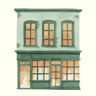 Иллюстрация старинного европейского городского здания