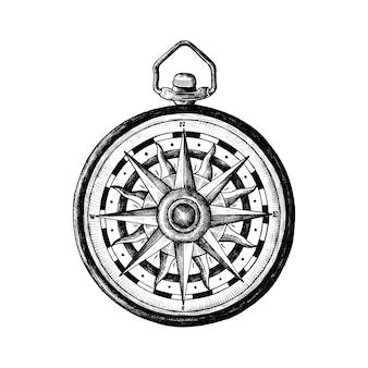 Рисованный классический компас