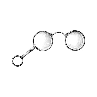 Рисованные ретро очки