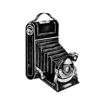手描きのレトロフィルムカメラ