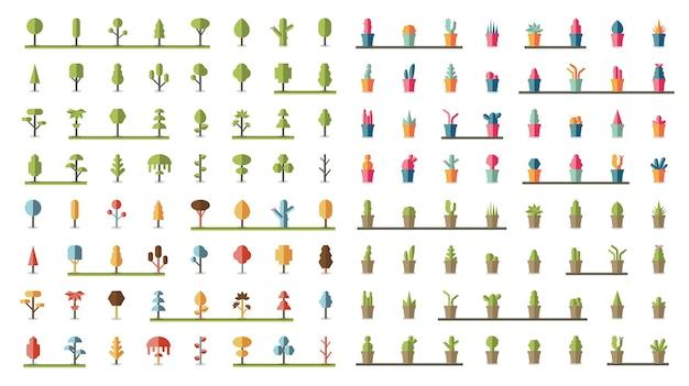 Сбор растений и векторов деревьев