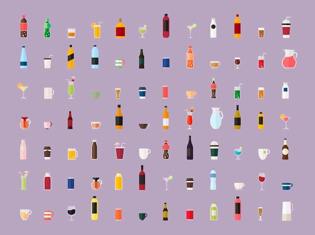 Сбор векторов напитков