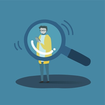 Иллюстрация человеческого аватара с использованием технологии