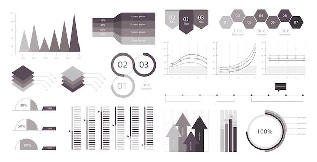 ビジネスグラフインフォグラフィック
