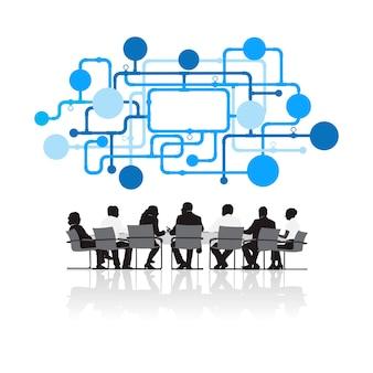 Иллюстрация деловых людей на встрече
