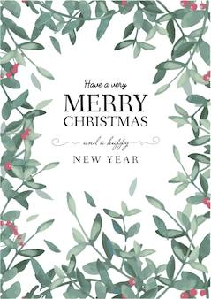 クリスマスグリーティングカードテンプレートベクトル