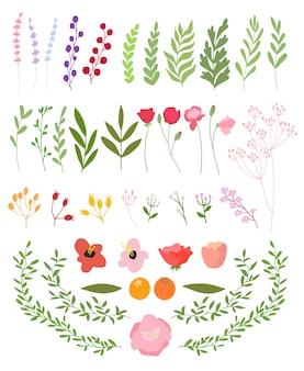 Векторные цветочные баннер набор