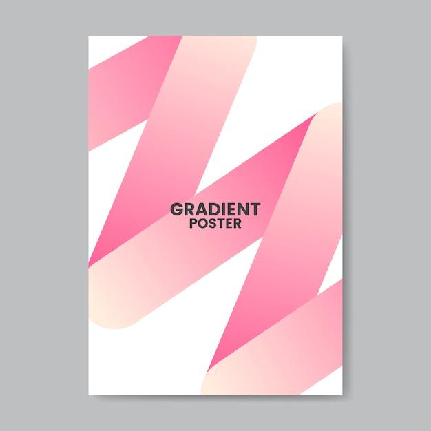 ネオンジグザググラデーションポスターデザイン
