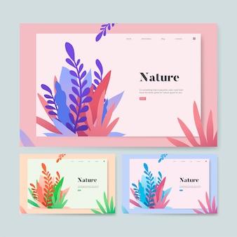 自然と植物の情報ウェブサイトのグラフィック