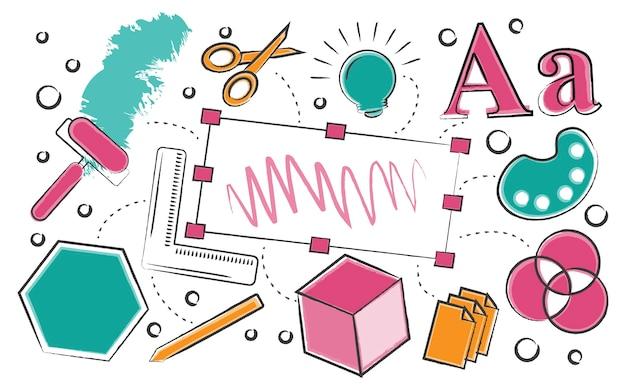 Иллюстрация креативного графического дизайна