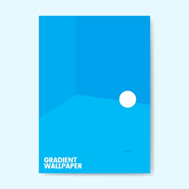 カラフルなグラデーション壁紙テンプレートデザイン