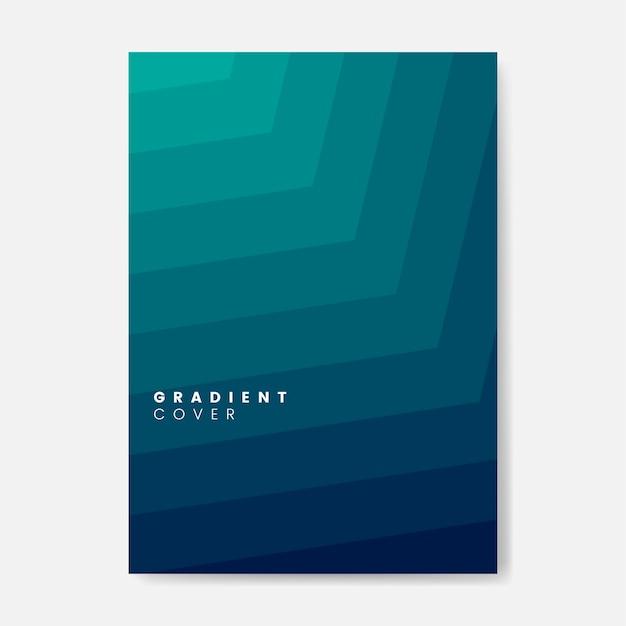 グリーングラデーションカバーグラフィックデザイン