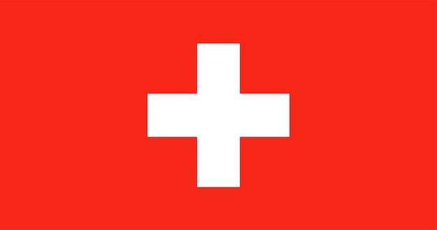 スイスの国旗のイラスト