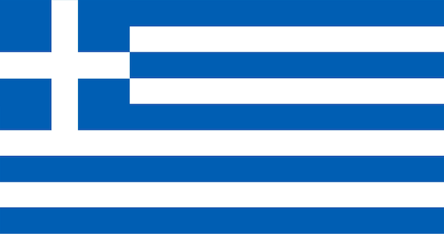 ギリシャの旗のイラスト