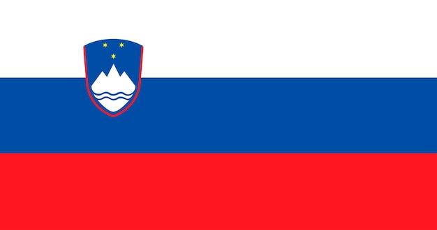 スロベニアの国旗のイラスト