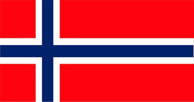 ノルウェーの旗のイラスト