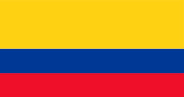 コロンビアの旗のイラスト