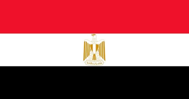 エジプトの国旗のイラスト