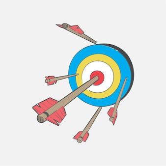 Иллюстрация ручного рисунка успешной концепции