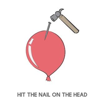 頭の爪を打つ