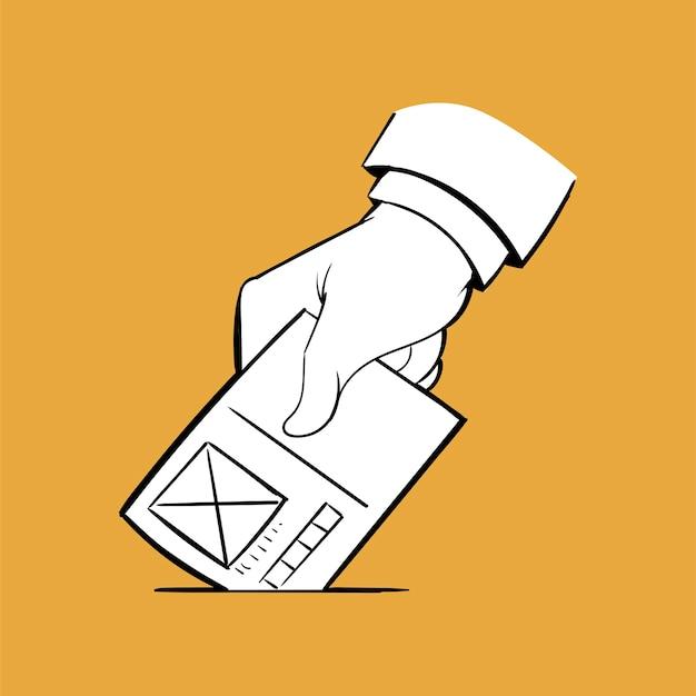 選挙の概念の手描きのイラスト