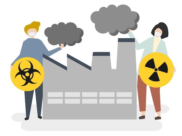 大工場と大気汚染