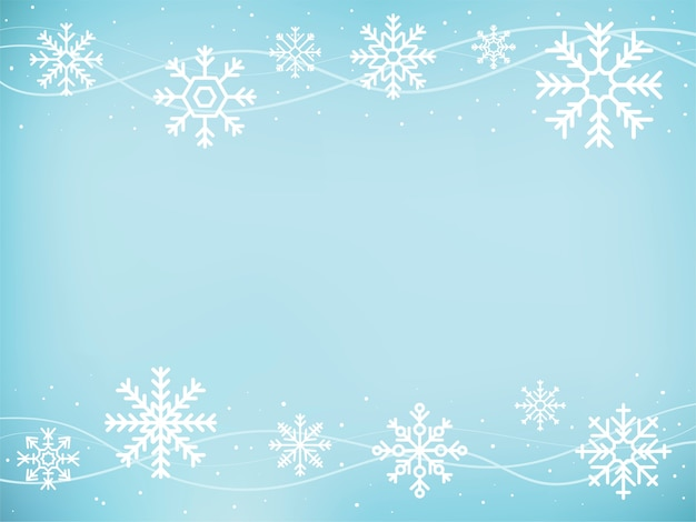 かわいい雪片のアイコンのイラスト