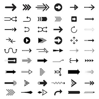 Коллекция иллюстрированных стрелочных знаков