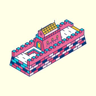 Иллюстрация великой стены китая