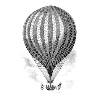 Иллюстрация старинных воздушных шаров