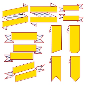 Набор ленточных векторов