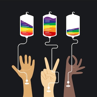 献血の概念のベクトル図