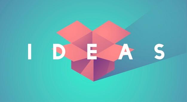 アイデアミッションビジョンのベクトル図