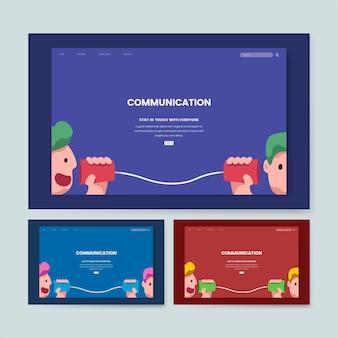 コミュニケーションと情報ウェブサイトのグラフィック
