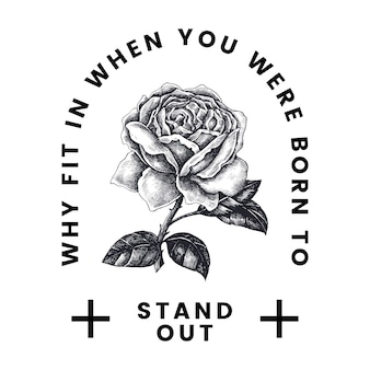 Выдвиньте вектор дизайна логотипа с розой