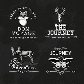 冒険ロゴデザインベクターのコレクション