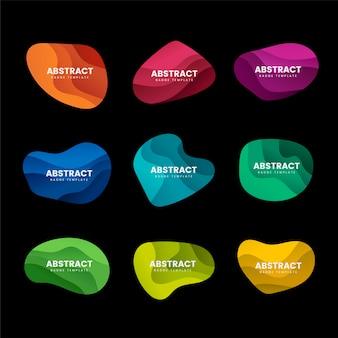 抽象的なバッジデザインベクトルセット