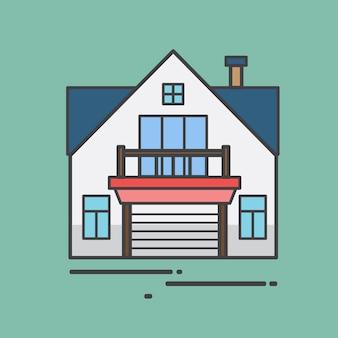 Иллюстрация милый дом