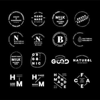 Набор векторов векторов логотипа