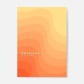 オレンジグラデーションカバーグラフィックデザイン