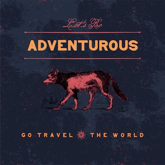 冒険旅行ロゴデザインベクトル