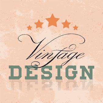 ビンテージモックアップロゴデザインベクトル