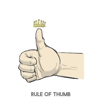 親指のルール