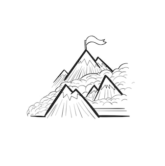 開発概念の手描きのイラスト