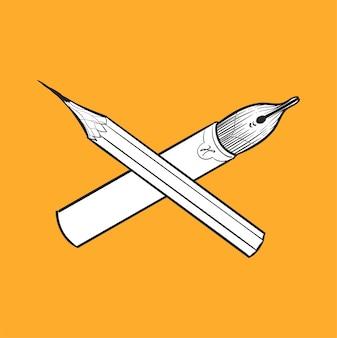 ヒップスタースタイルの概念の手描きのイラスト