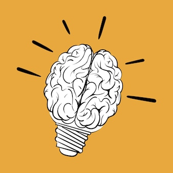 創造的なアイデアの概念の手描きのイラスト