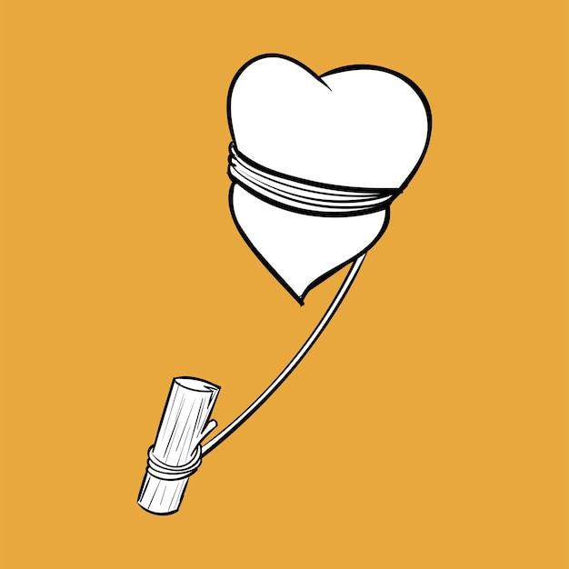Иллюстрация ручного рисунка концепции любви