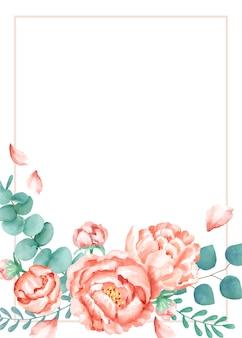 花のテーマの招待状