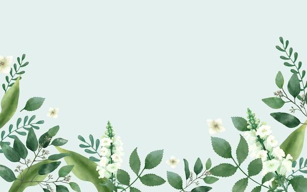緑のテーマの招待状